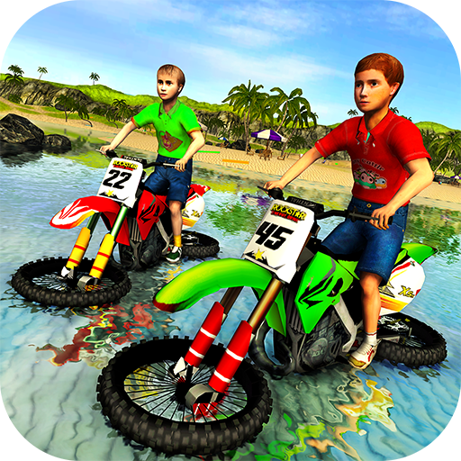 Kids Water Surfer Motorbike Racing - Beach Driving (game)