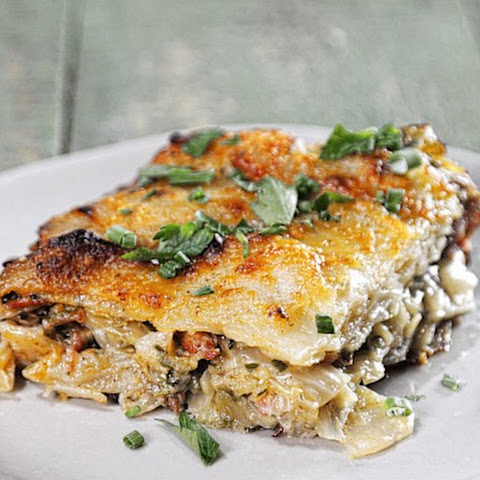 Ham and Cabbage Potato Gratin