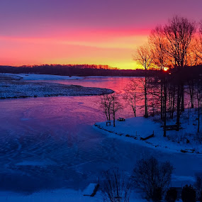 Rillhurst Morning by Robert Golub - Landscapes Sunsets & Sunrises