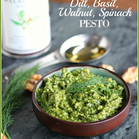 Dill, Basil, Walnut, Spinach Pesto