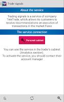 Screenshot of TeleTrade Analytics