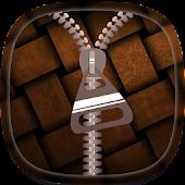 Brown Zipper Lock Screen APK for iPhone