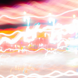 light in the fast lane by Sunday Mccollum - Abstract Light Painting ( speed, bright, colors, streaks, light )