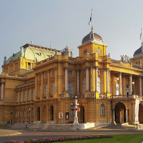 Croatian National Theatre in Zagreb by Milan Z81 - Buildings & Architecture Public & Historical ( national, theatre, croatia, zagreb, hrvatska )