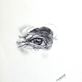 The Eye by Biswajit Thakur - Drawing All Drawing