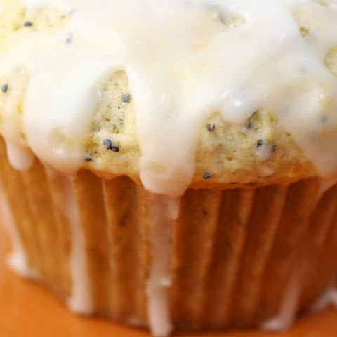 Lemon Poppy Seed Muffins With Lemon Glaze