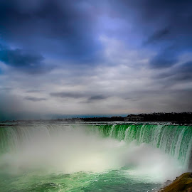 Niagara by Scott Hryciuk - Landscapes Waterscapes ( clouds, water, blue, niagara falls, water falls, niagara )