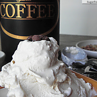 Healthier Low Carb Coffee Ice Cream {Egg & Sugar Free}