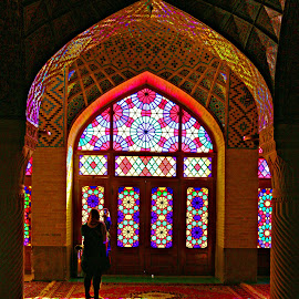 Colorful Mosque by Ehsan Norouzi - Buildings & Architecture Places of Worship ( building, iran, arch, colorful, mosque, beautiful, art, architecture, worship, heritage, historic, photography, history, window, artistic, pink )
