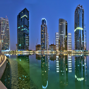Jumeirah Lake Towers by Andrew Madali - City,  Street & Park  Street Scenes