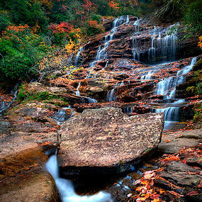 Glenn Falls by Steven Faucette - Landscapes Waterscapes ( mountains, waterfall, fall, glenn, highlands, north carolina,  )