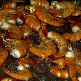 Boiled Shrimp by Dave Walters - Food & Drink Plated Food ( seafood, food, colors, boiled shrimp, close up, mouth watering, shrimp voil )
