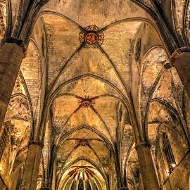 Sta Maria del Mar by Jose Maria Vidal Sanz - Instagram & Mobile iPhone ( old, details, travel, barcelona, basilica )