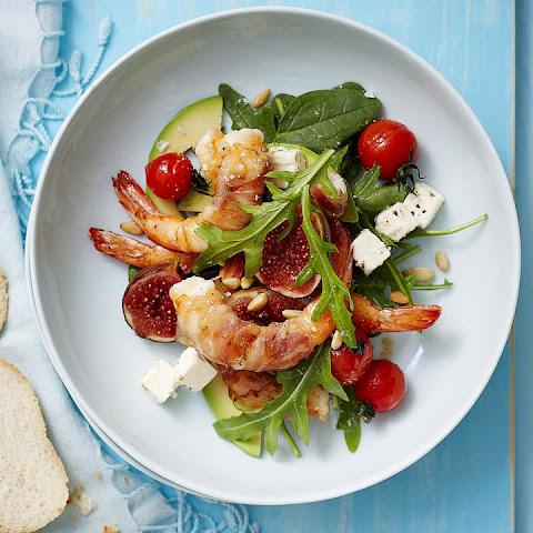 Pancetta and Shrimp Salad with Maple Figs