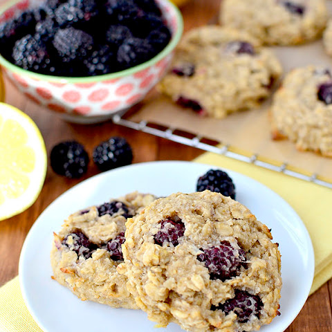 Lemon Blackberry Breakfast Cookies