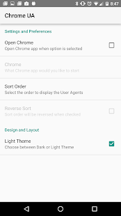 User Agent for Google Chrome APK baixar