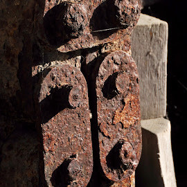 Rust by Brice Amram - Artistic Objects Antiques ( black background, metal, textures, sea, metallic, rusty, rust )