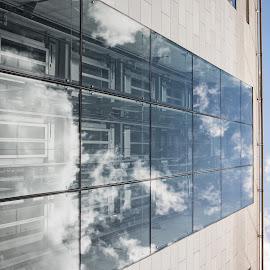 Looking up in dublin 4 by Paul Holmes - Buildings & Architecture Office Buildings & Hotels ( dublin, nikon d700, nikon 35mm f2 lens )