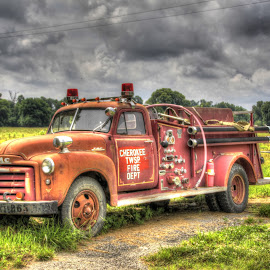 Old Fire Truck by Jackie Eatinger - Transportation Other (  )
