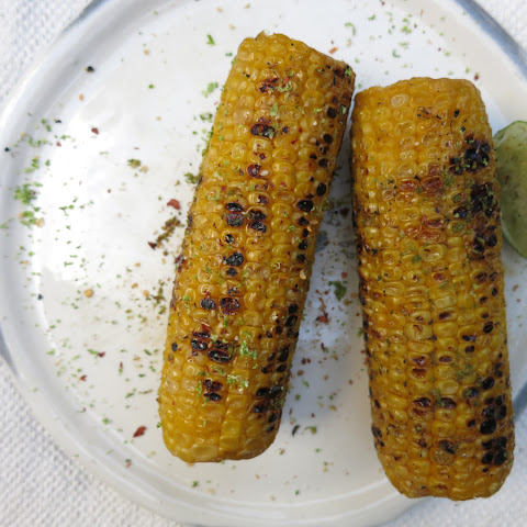 Sweet Corn with Coconut Oil, Lime and Chilli