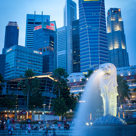 Twilight on Singapore by Faro Rasyid - Buildings & Architecture Statues & Monuments