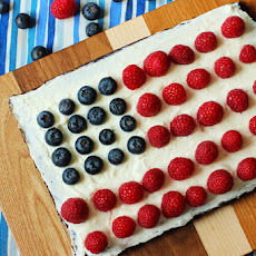 4th of July Brownie Tart