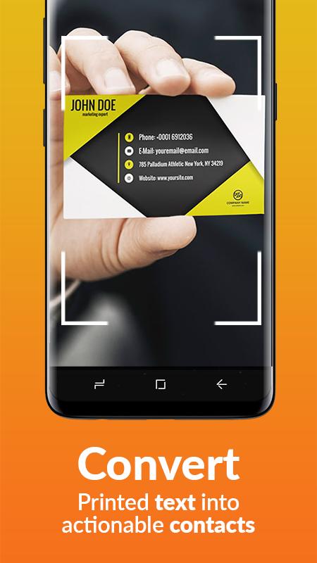 Business Card Scanner & Reader - Free Card Reader Screenshot 2