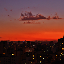 in the mouth of the night in Sao Paulo Brazil by Marcello Toldi - City,  Street & Park  Vistas