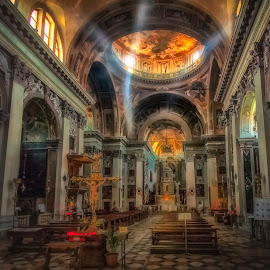 Chiesa di San Nicola da Tolentino by Ole Steffensen - Buildings & Architecture Places of Worship ( venezia, altar, church, venice, chiesa di san nicola da tolentino, dome, italy, cross )