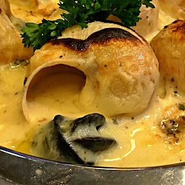 Delicioso Escargots by Jo-Ann Tan - Food & Drink Plated Food
