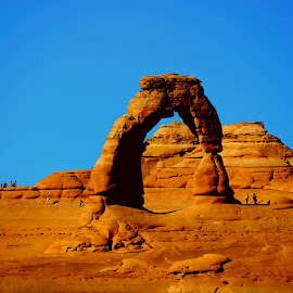 Delicate Arch in the arches national park Moab, Utah  by LaDonna McCray - Landscapes Mountains & Hills ( national park, arch, delicate, rock, rock formation, landscape,  )