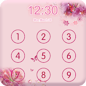 Download Applock Theme Pink Flower APK
