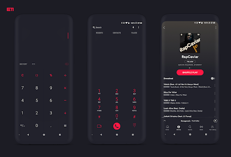 "PitchBlack S - Substratum Samsung Theme ""For Oreo"" Screenshot"