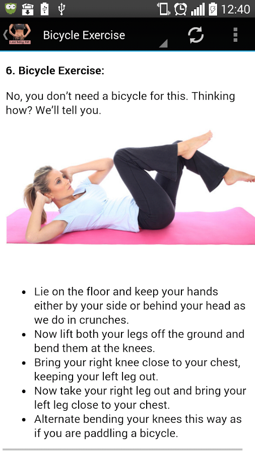 Belly Fat Exercises Screenshot