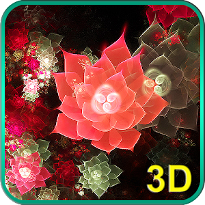 Abstract Flowers 3D