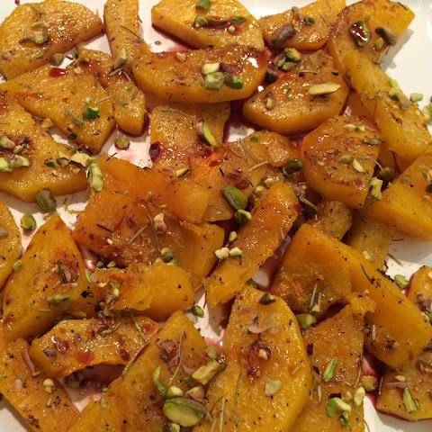 Roast Butternut Squash with Pomegranate Drizzle