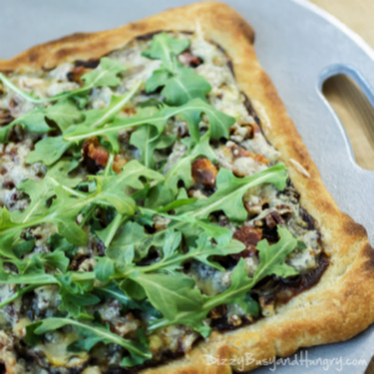Alsatian Pizza With Bacon And Caramelized Onions Recipes — Dishmaps
