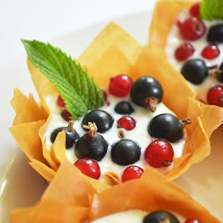 Filo Baskets With Lemony Cream Cheese And Berries