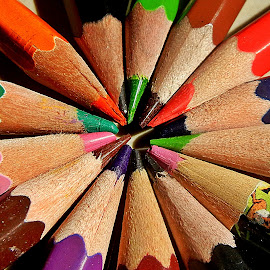 Pencils 11 by Pradeep Kumar - Artistic Objects Still Life