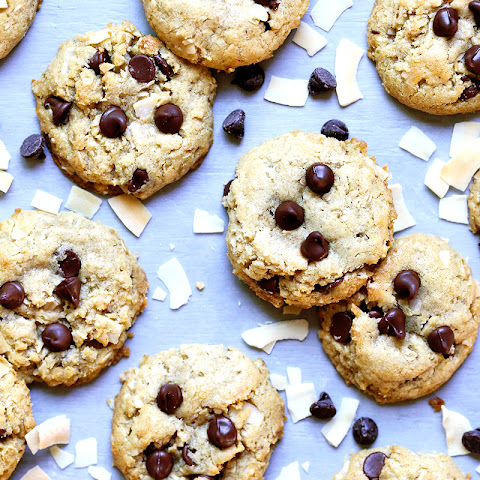 Toasted Oatmeal Coconut Chocolate Chip Cookies