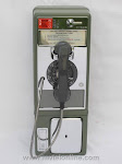 Single Slot Payphones - Mountain Bell 1E Green loc LP2