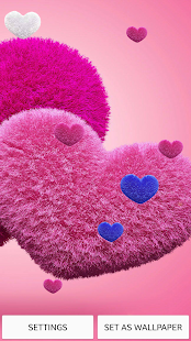 Pink Hearts Wallpaper - screenshot