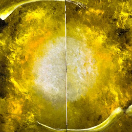 oigen by Mauricio Silerio - Painting All Painting ( explosion, canvas, sun, origen, oil )