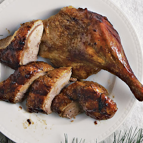Roasted Ducks with Tangerine-Hoisin Glaze