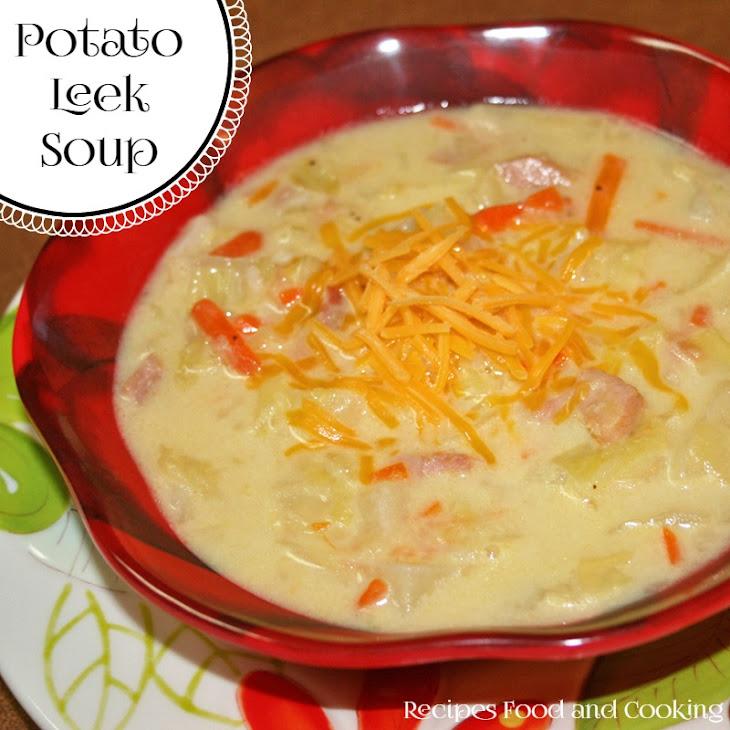 Potato Leek Soup with Ham Recipe | Yummly