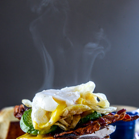 Roasted Turkey Potato Chip BLAT with a Poached Egg