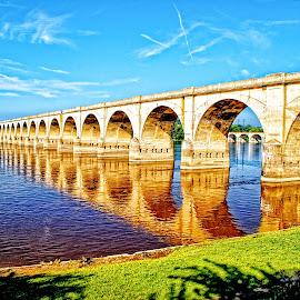 The Sun Bridge by Gregory Evans - Buildings & Architecture Bridges & Suspended Structures ( harrisburg, bridge, light, sun )