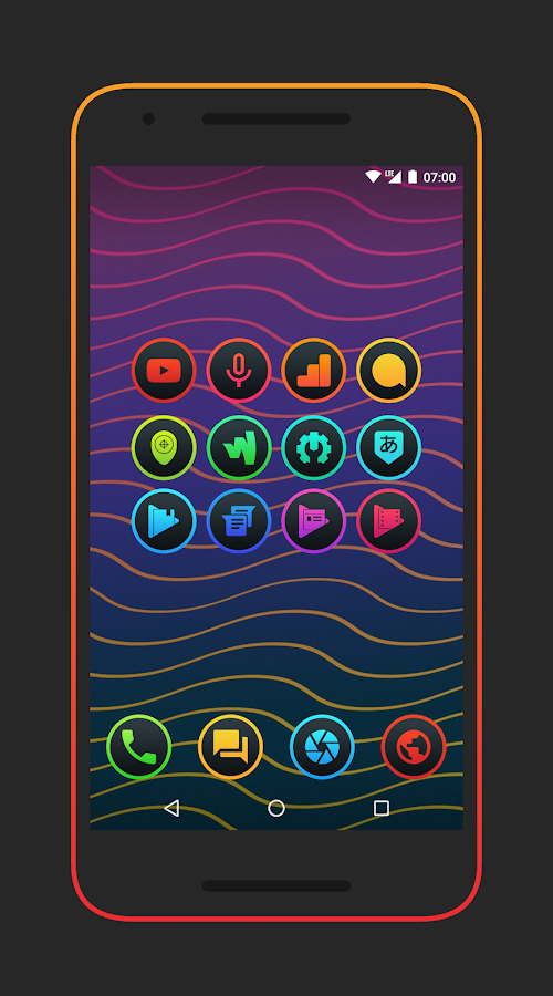 Lux Dark - Icon Pack Screenshot 0