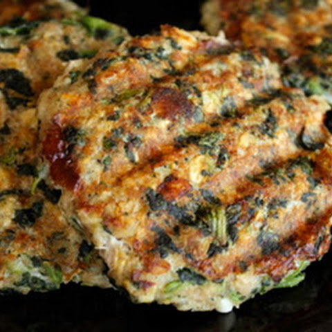 Spinach & Feta Turkey Burgers