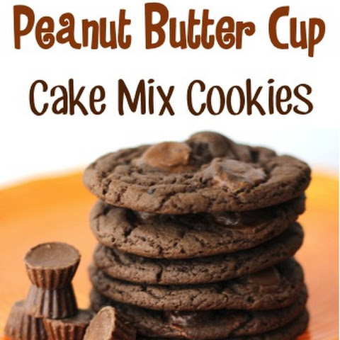 Reese's Peanut Butter Cup Cake Mix Cookies